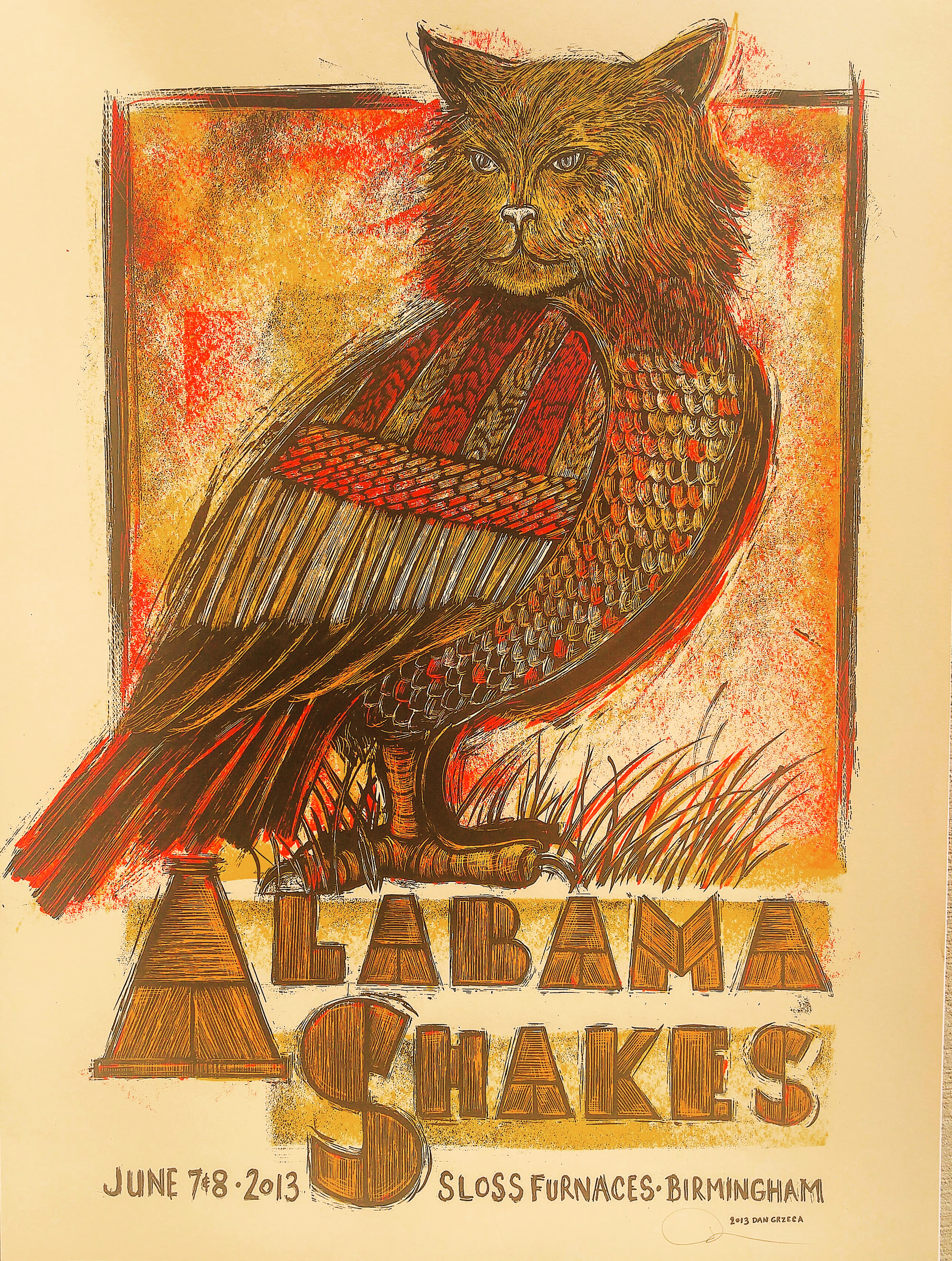 Alabama Shakes poster, from 'OMG Posters'