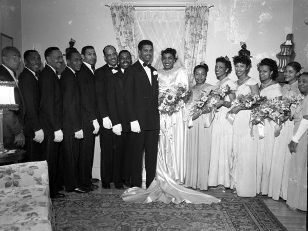 A wedding, Wayne Glanton is third from the left.