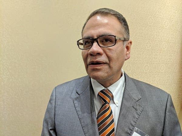 Mexican consul Gerardo Guerrero spoke at a panel on NAFTA.