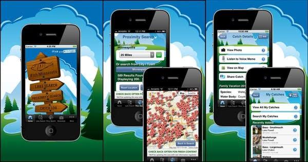 iFish Minnesota app screens
