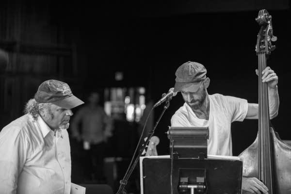 Rich Dworsky and Alan Hampton work out a Song of the Week at Wolf Trap on May 26, 2018.