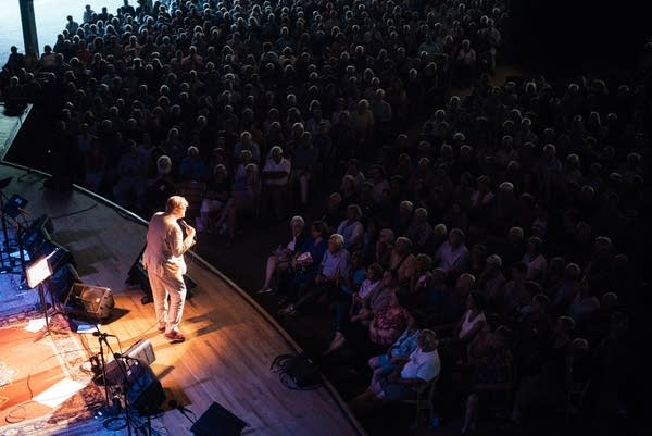 Garrison Keillor wraps up the show at Tanglewood.