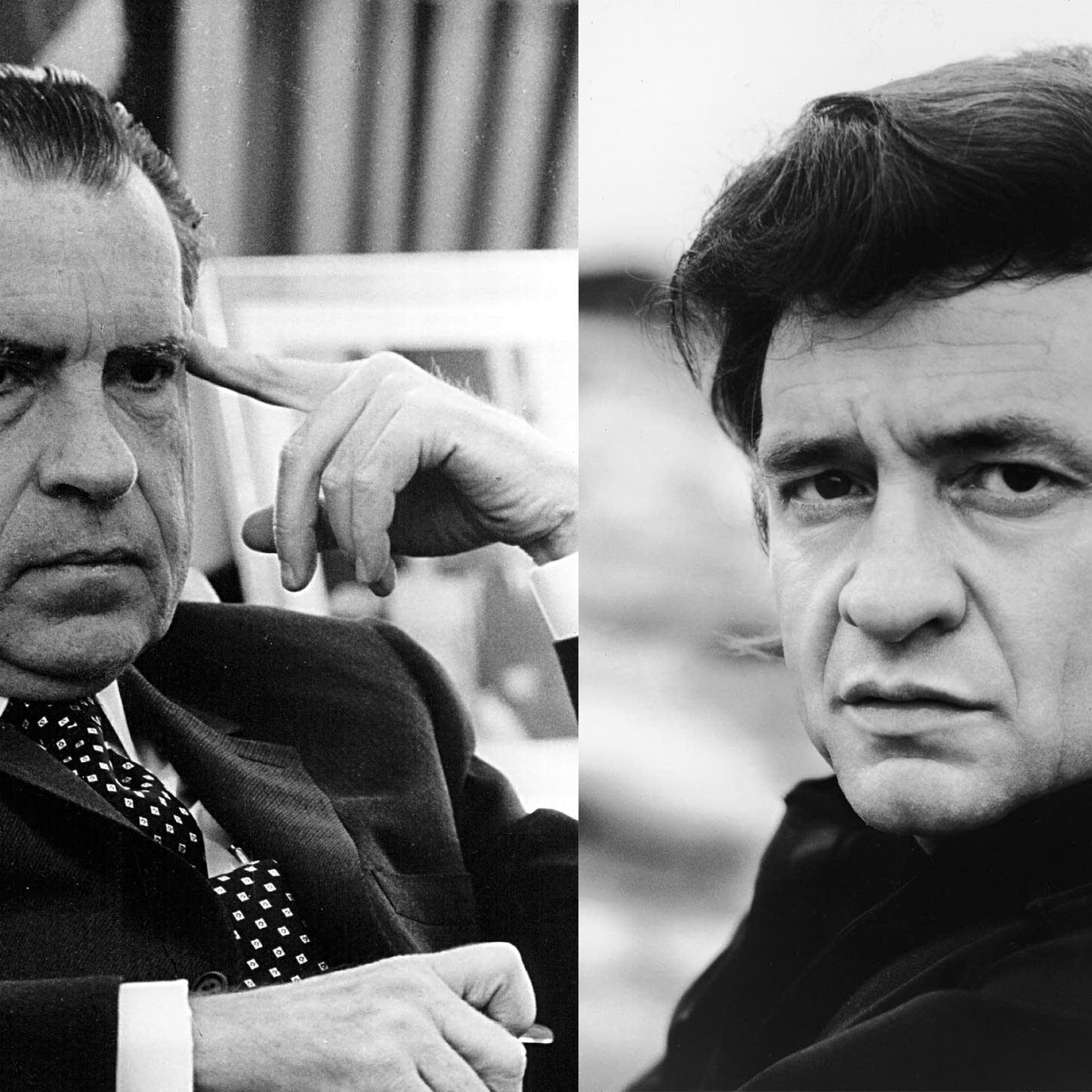 Richard Nixon and Johnny Cash