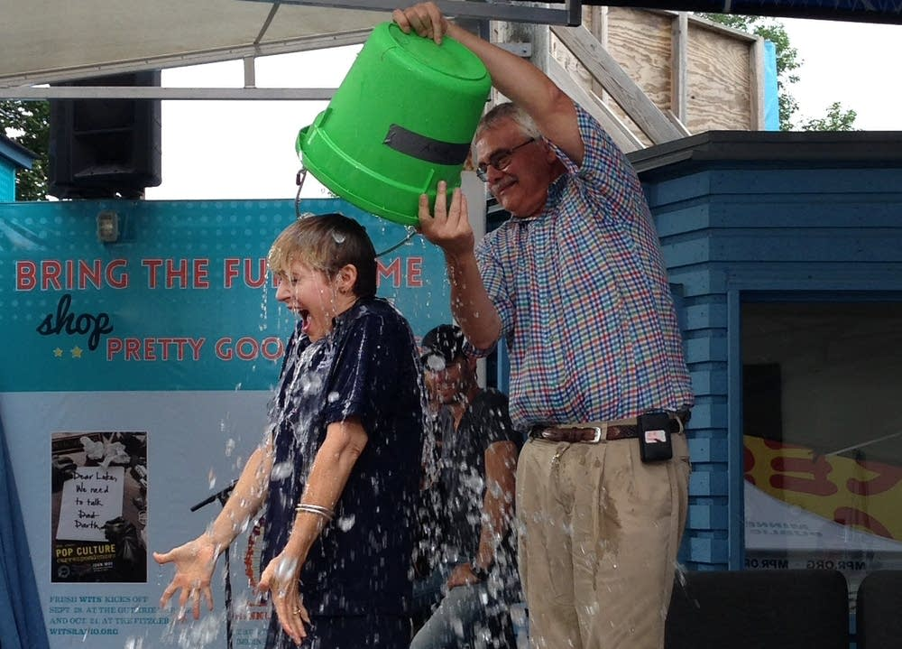 Cathy Wurzer takes the Ice Bucket Challenge