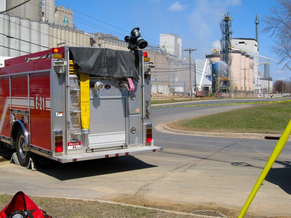 Biomass plant explosion