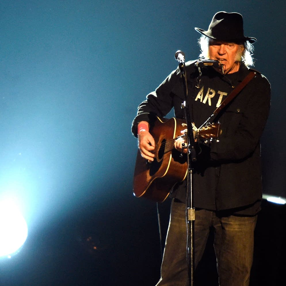 Neil Young performs in Los Angeles