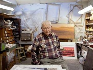 Charles Beck in his studio