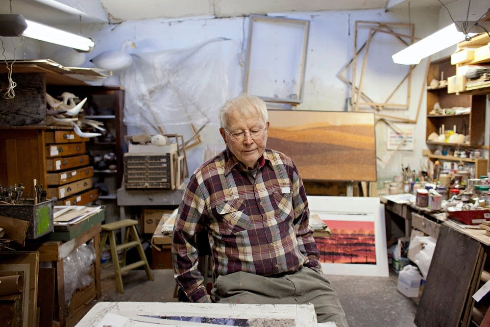 Charles Beck in his studio