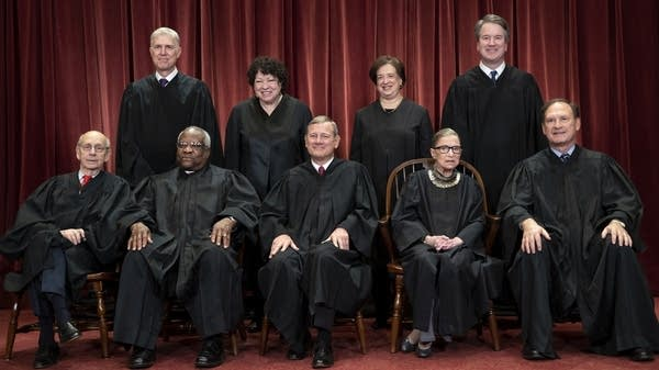 Supreme Court justices in November 2018
