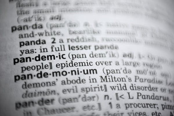 A word in a dictionary.