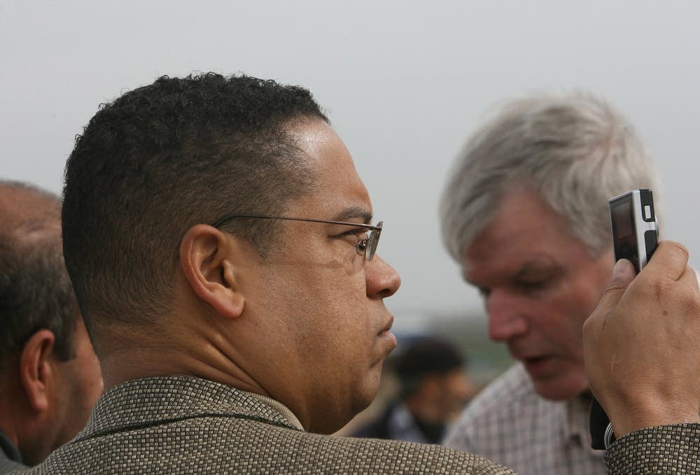 U.S. Democratic Congressmen Keith Ellison in Gaza