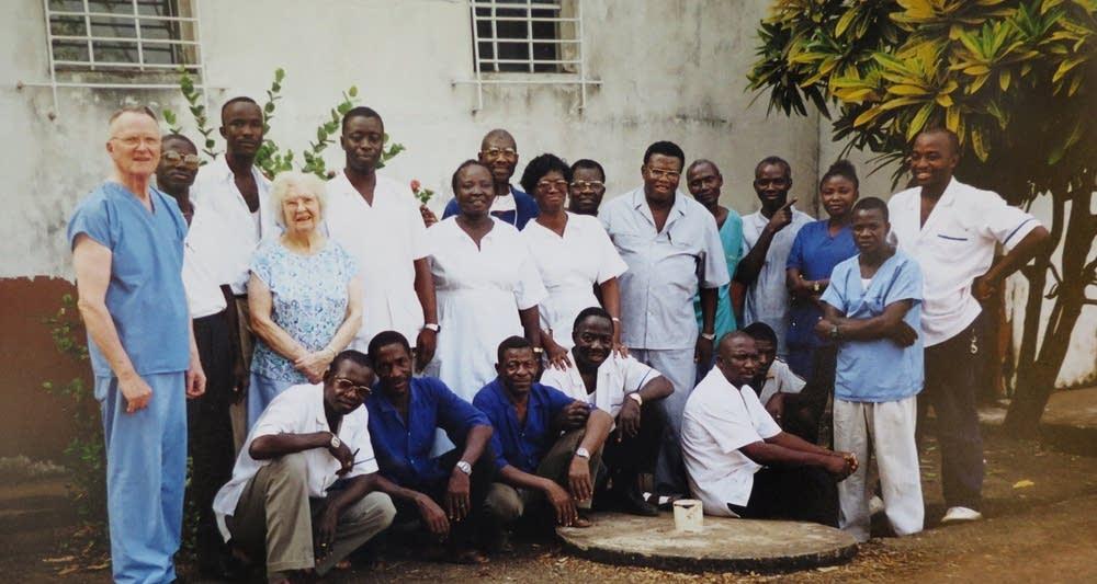 Staff at Kissy UMC Eye Hospital
