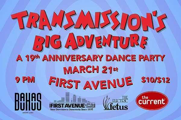 Transmissions big adventure 19th anniversary dance party