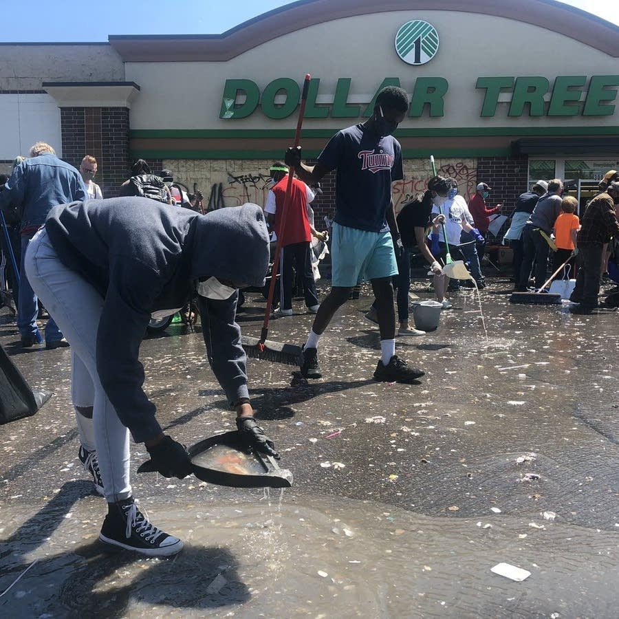 Cleanup in south Minneapolis Saturday.