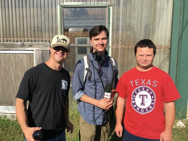 Travis, Sanden and Kyle at Down Home Ranch in Texas.