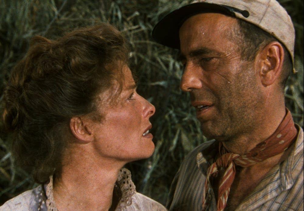 Bogart and Hepburn in The African Queen