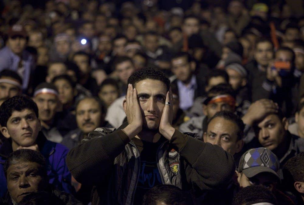 Mubarack speech reaction