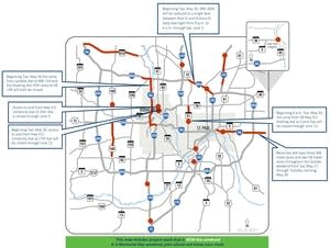Metro area weekend traffic impacts for May 26-29