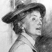 Dame Ethel Smyth, Detail from a Portrait [1901] by John Singer Sargent