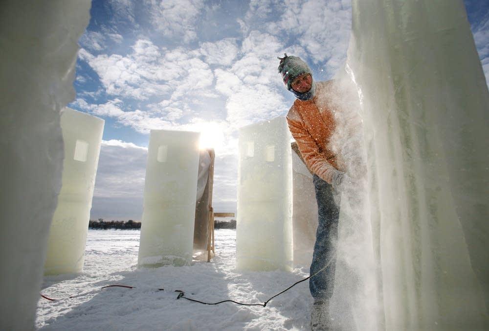 Sanding 'Ice-Henge'