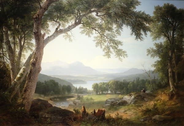 Asher B. Durand, Landscape, 1855.