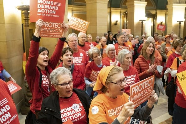 Moms Demand Action for Gun Sense in America hold a rally at the Capitol.