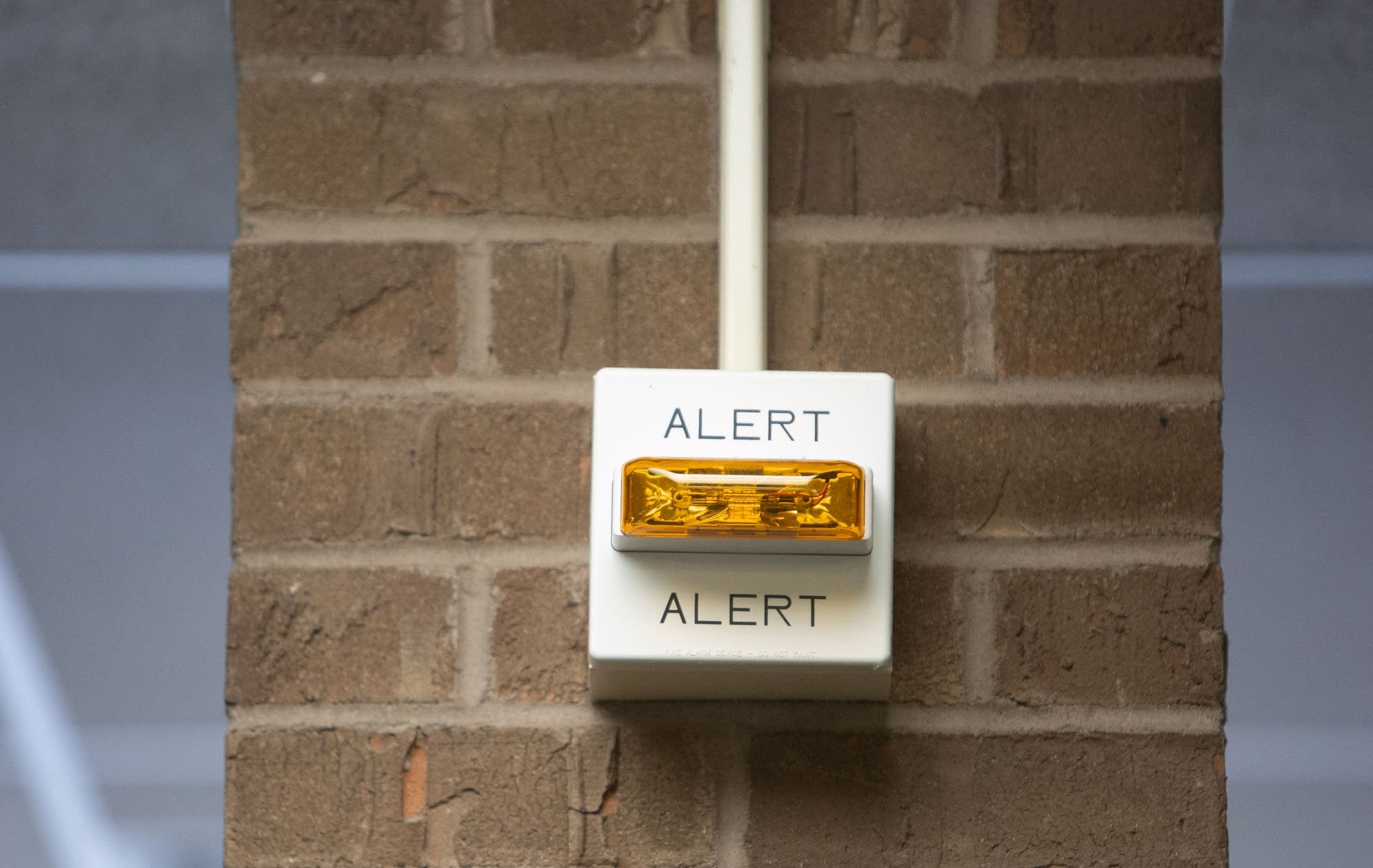 A security alert is used in high occupancy areas to provide warnings.