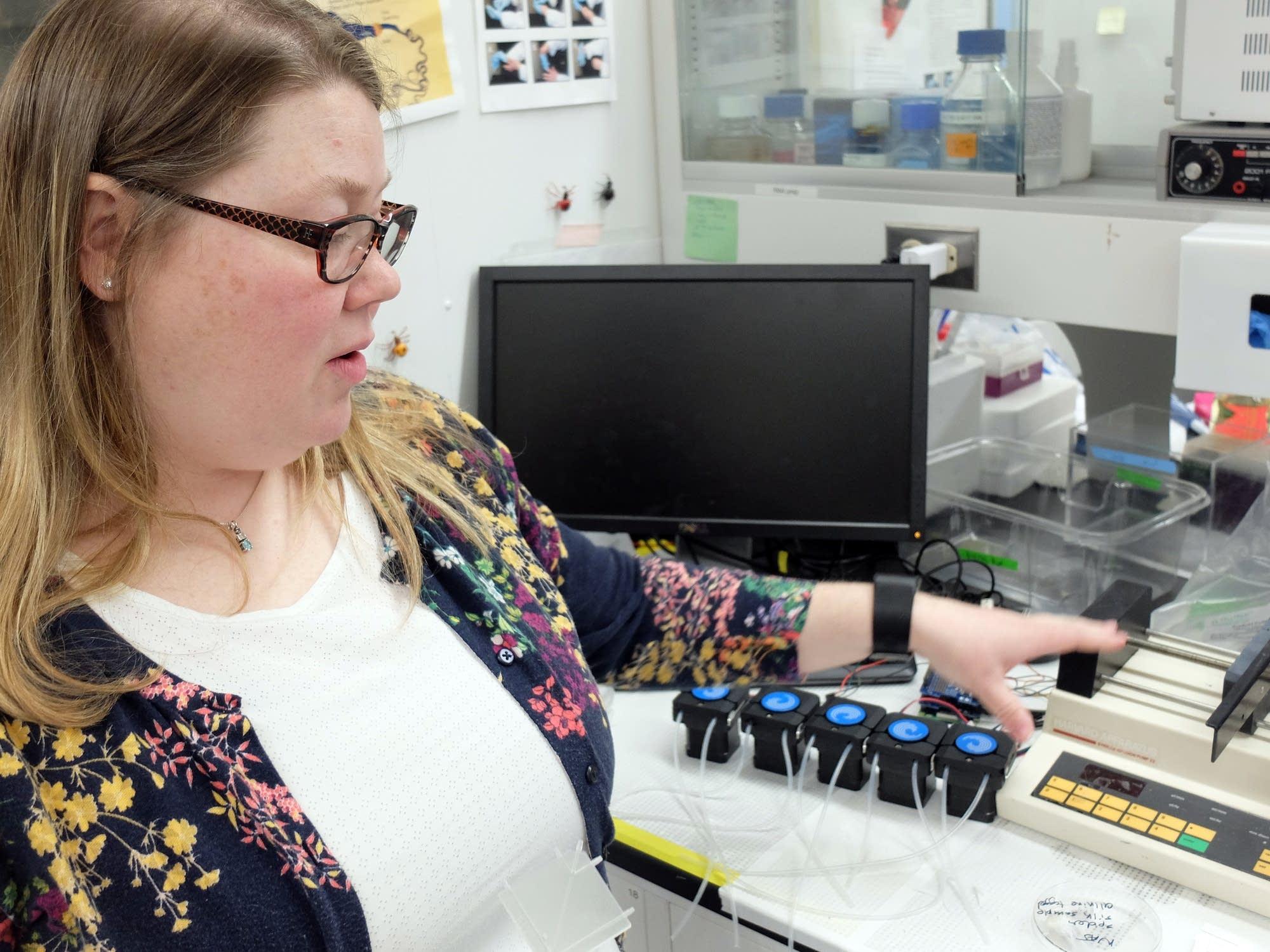 NDSU assistant professor Amanda Brooks explains the process.