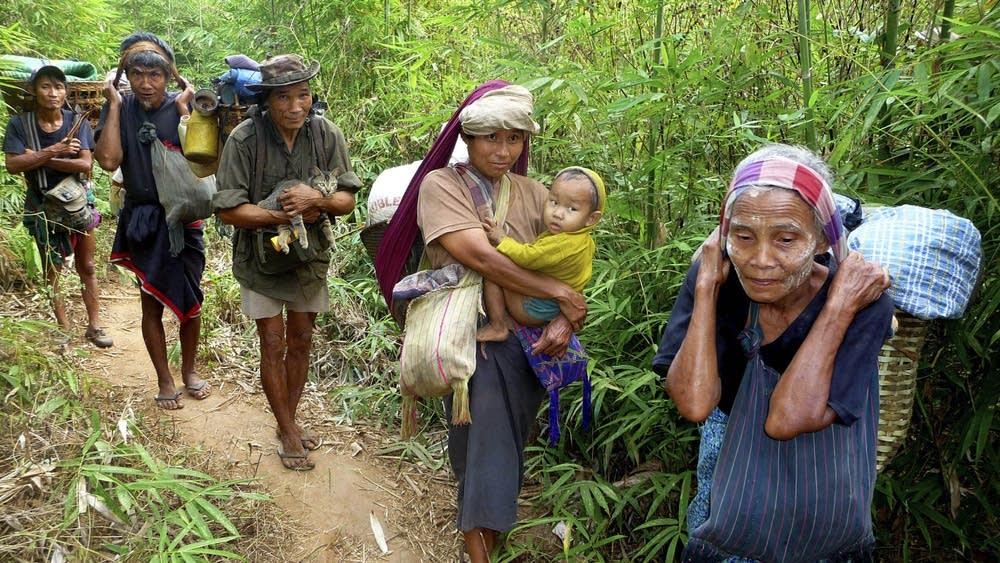 Karen families flee
