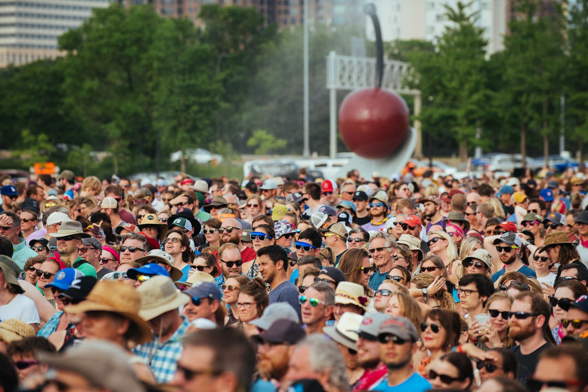 A crowd at Rock the Garden 2018.