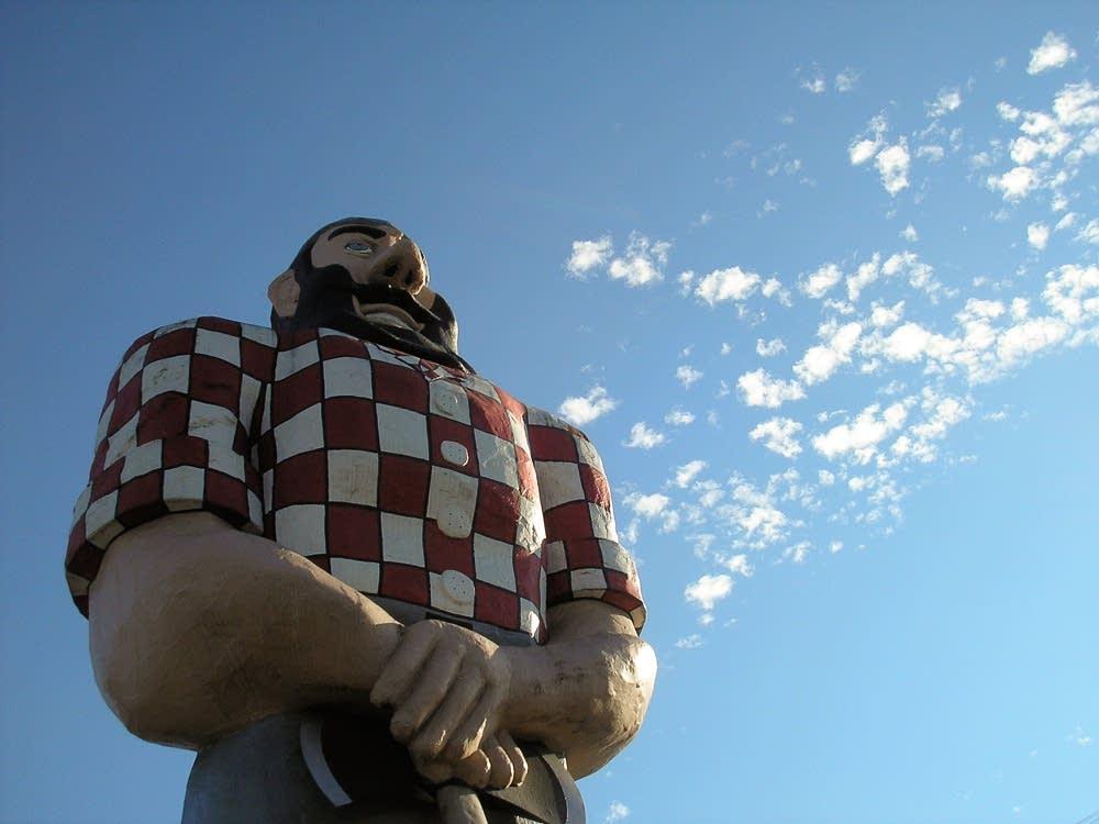 Paul Bunyan statue in Portland, Ore.