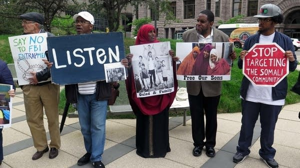 Fadumo Hussein and supporters