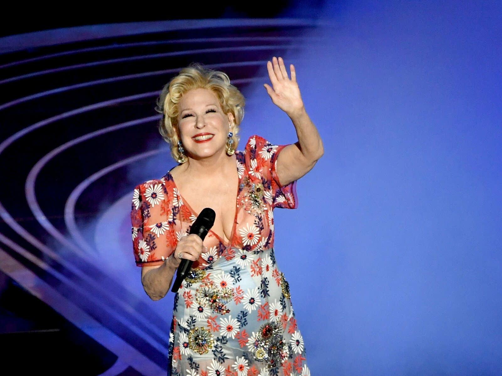 Bette Midler performing in Hollywood in 2019