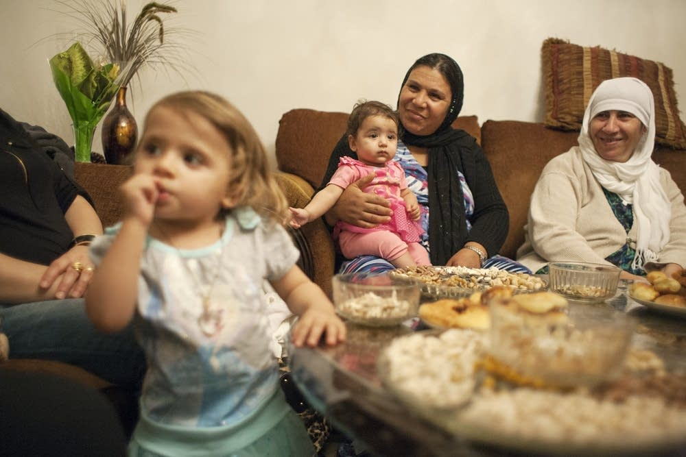A Kurdish family celebrates