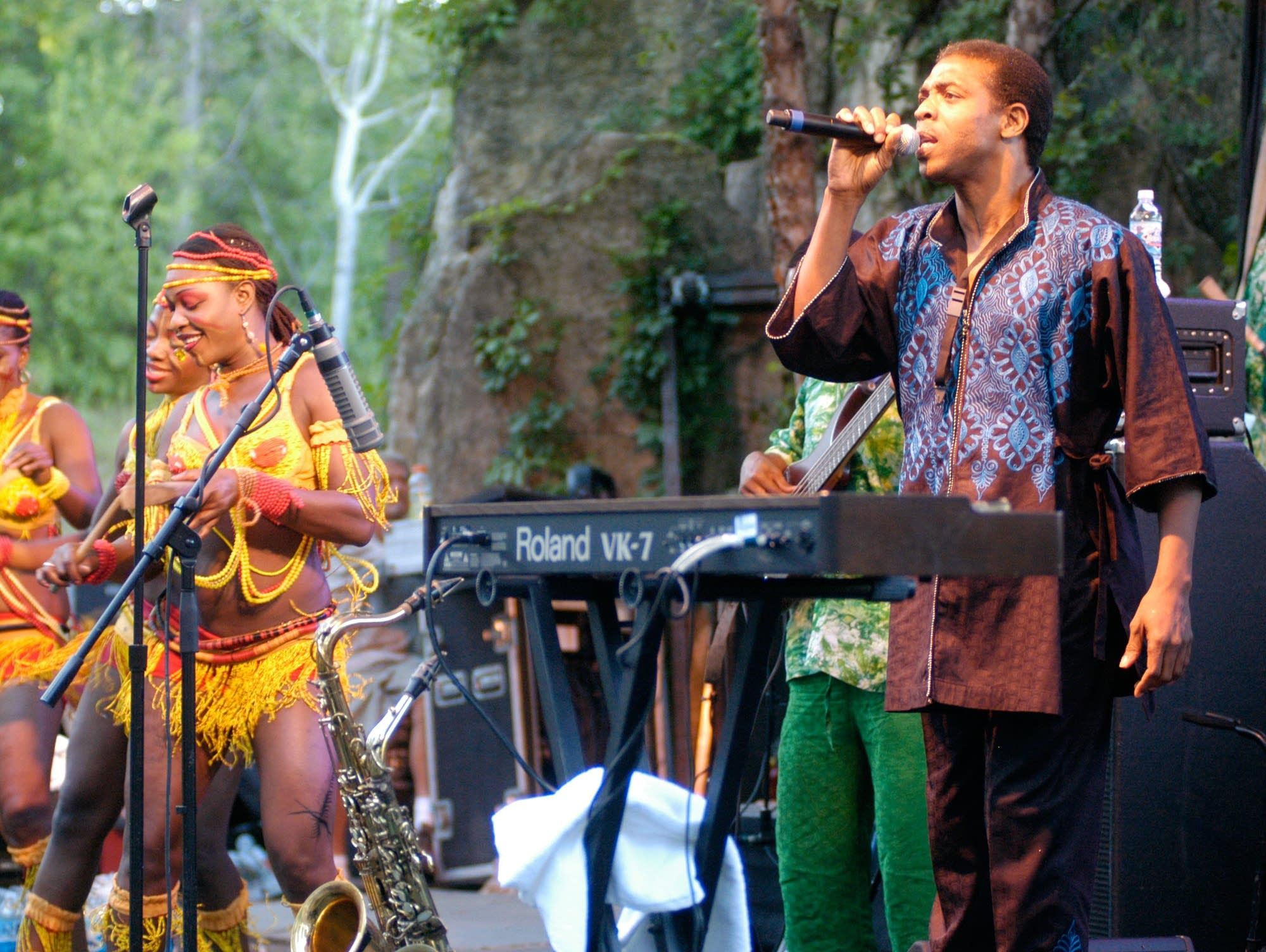 Femi Kuti at the Minnesota Zoo, 2007.