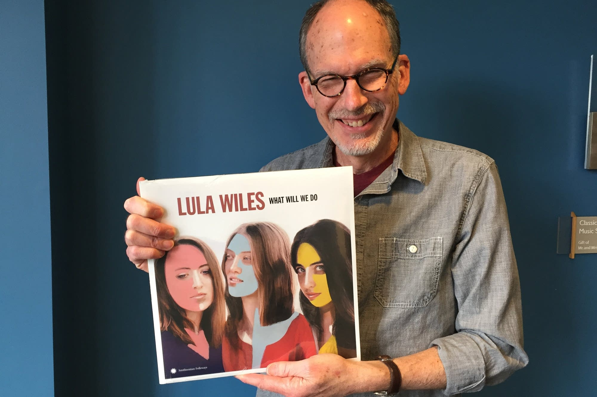 Mike Pengra with Lula Wiles' album, 'What Will We Do'