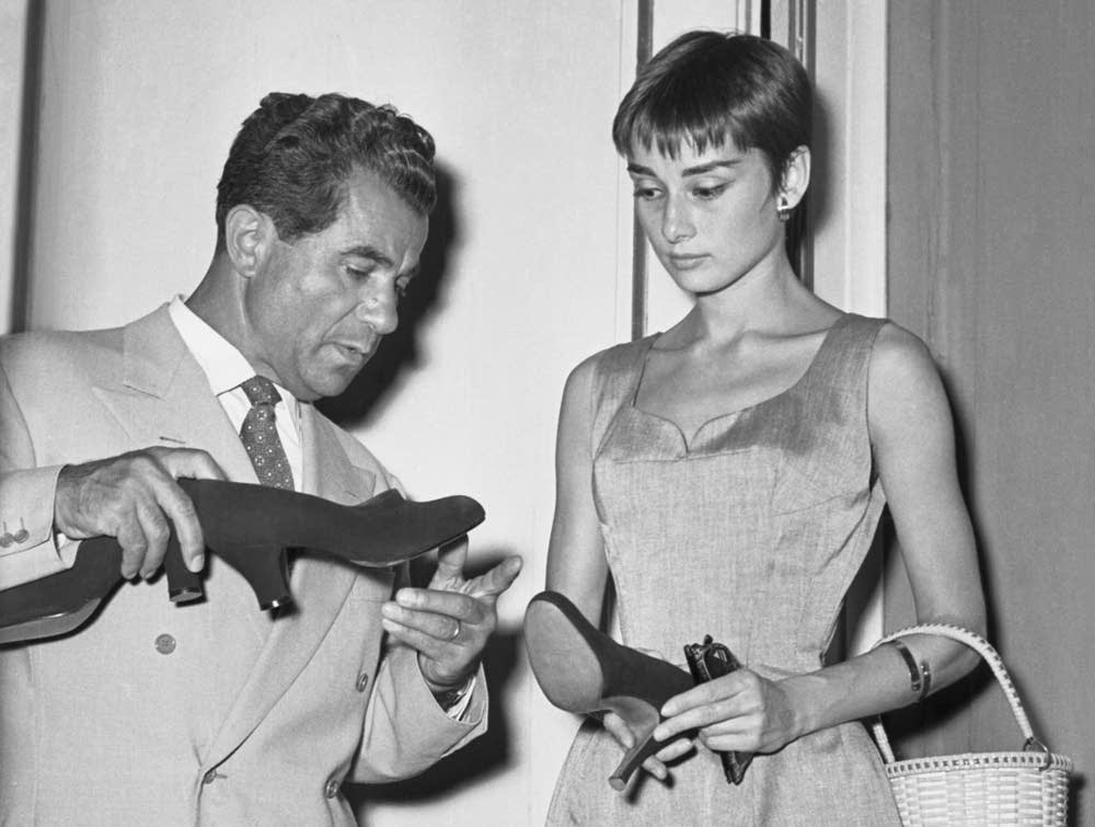 Salvatore Ferragamo with Audrey Hepburn