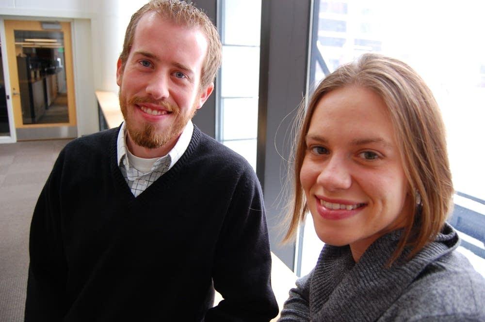 Renee Splichal Larson and Jonathan Larson