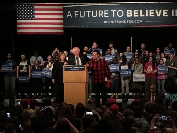 Sanders in Mpls