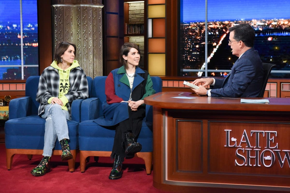 Tegan and Sara on 'The Late Show with Stephen Colbert'