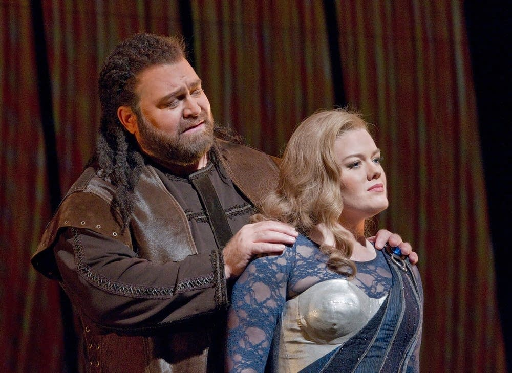 Konig as Hagen and Harmer as Gutrune