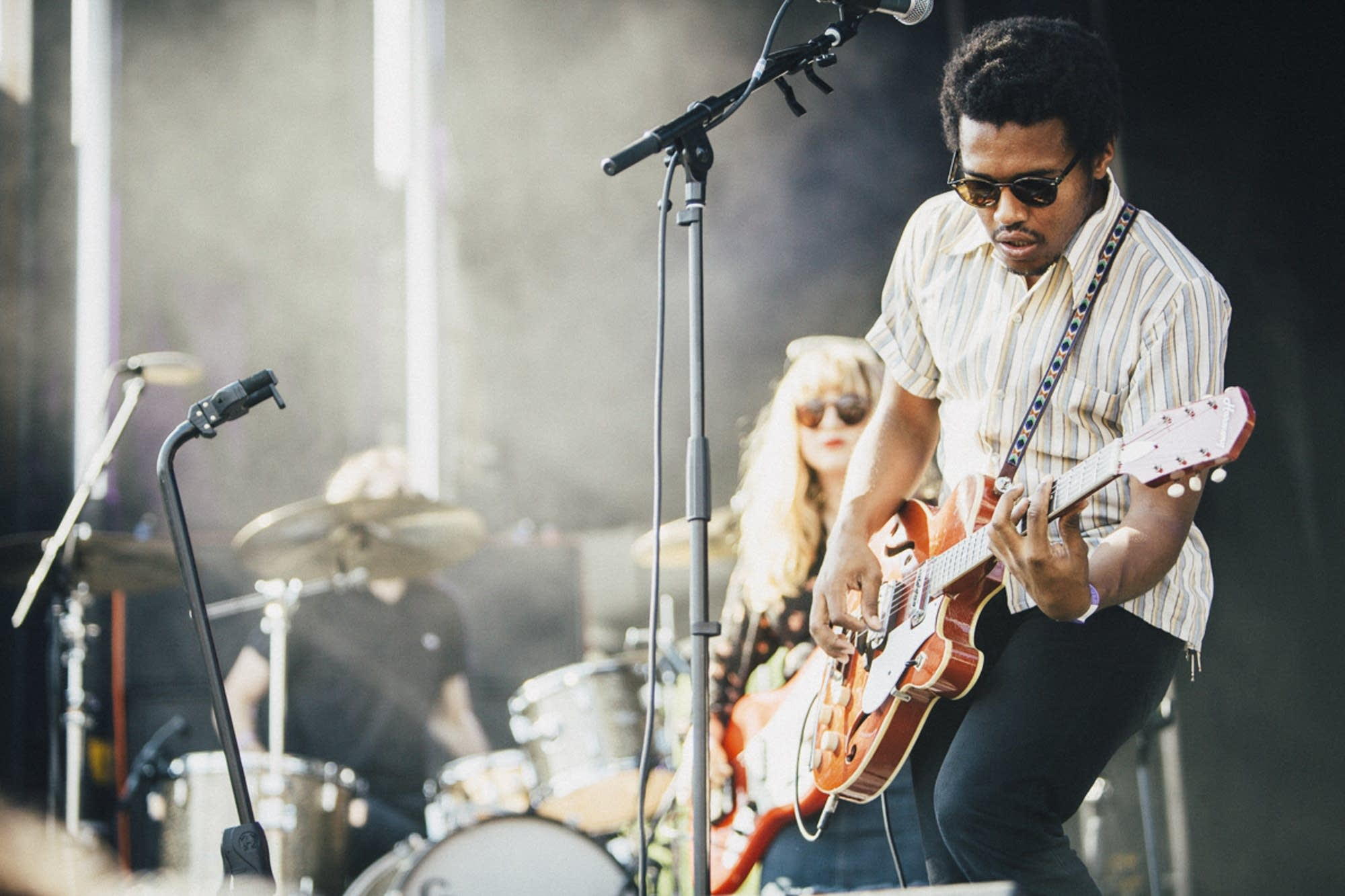 Benjamin Booker shreds on the main stage.