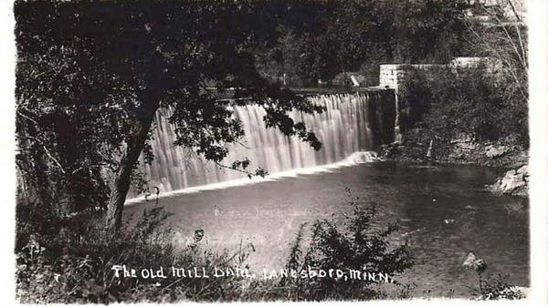 An undated historic view of the Lanesboro Dam