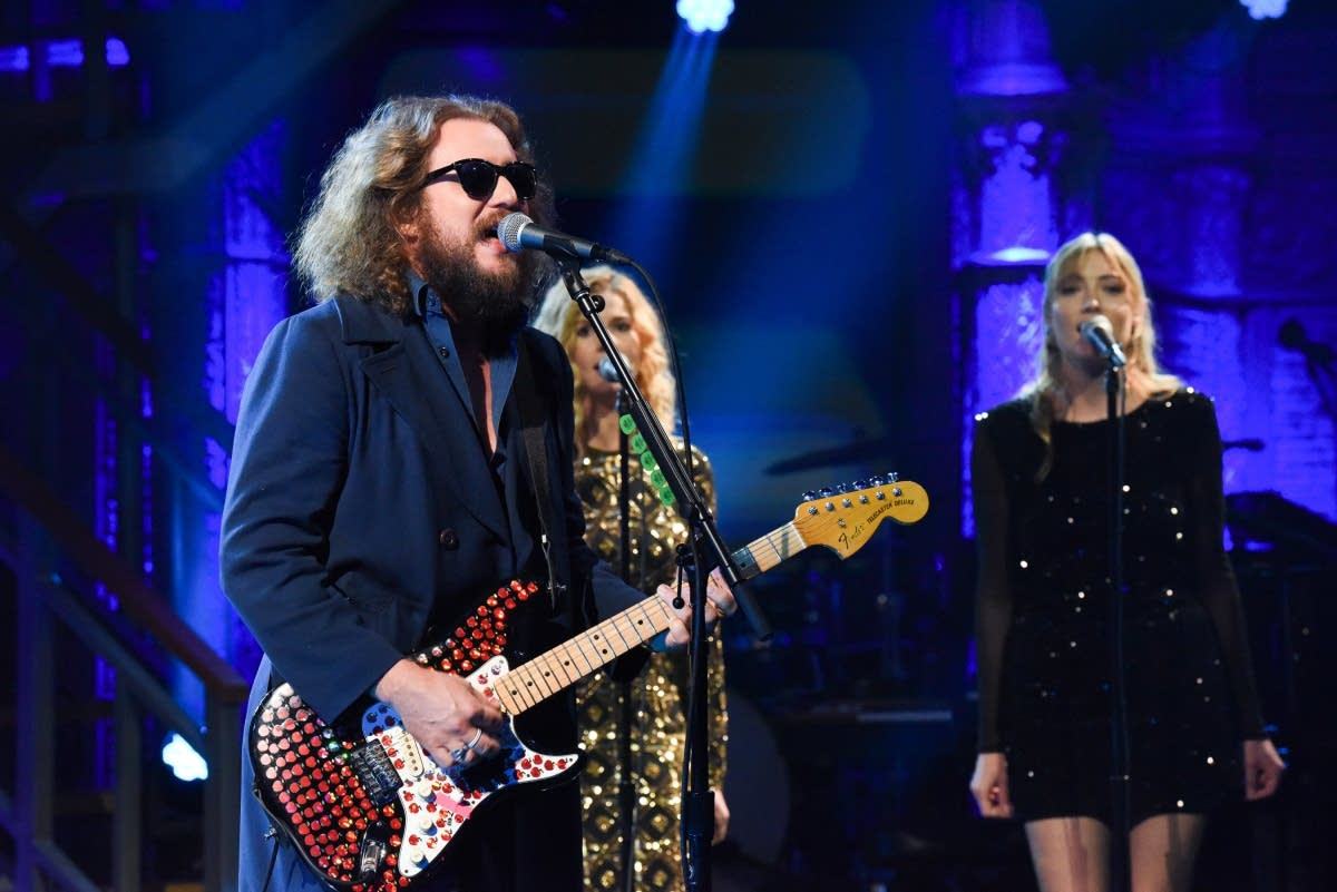 Jim James performs on 'The Late Show with Stephen Colbert'