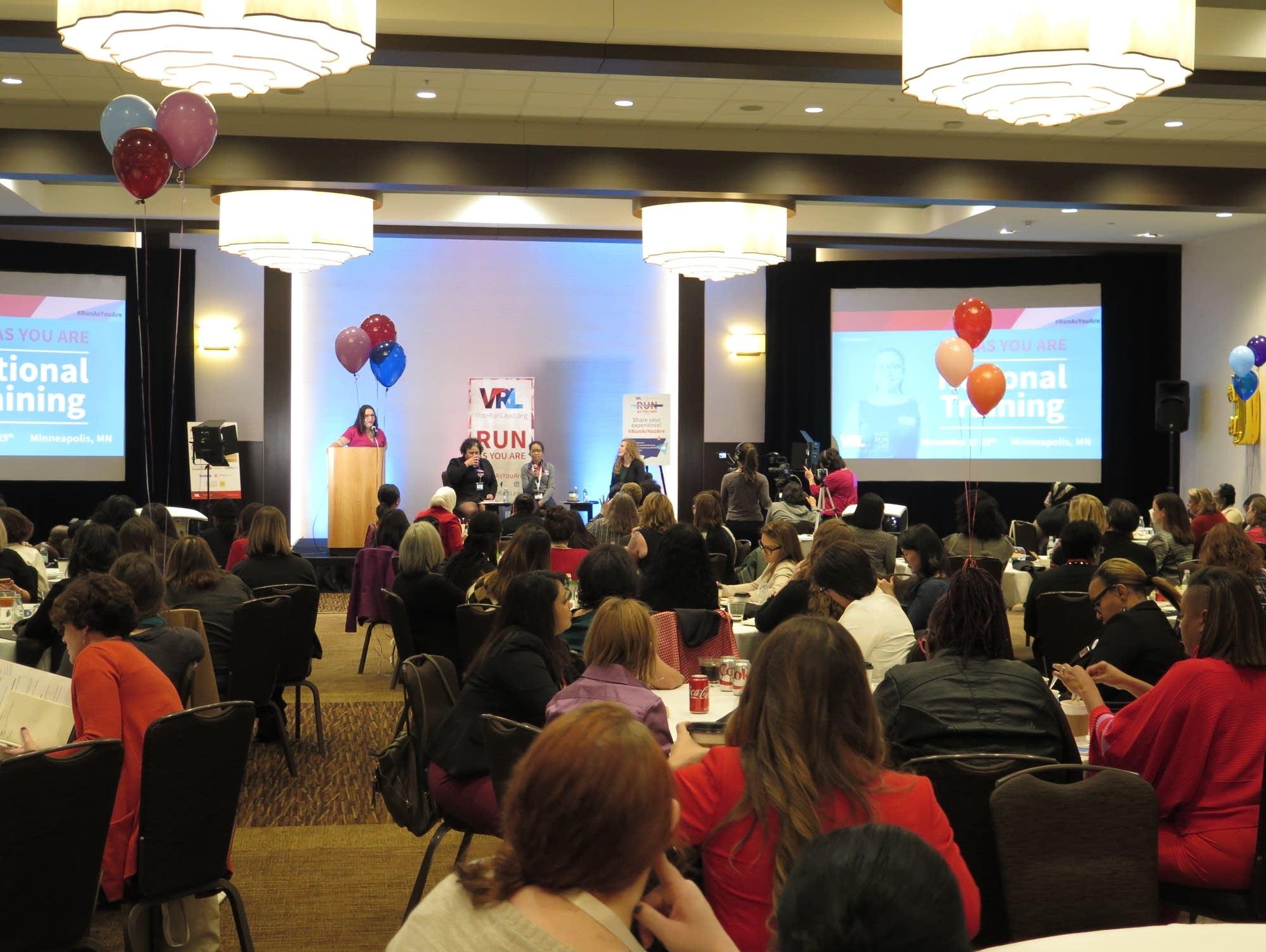 The Vote, Run, Lead conference in Minneapolis