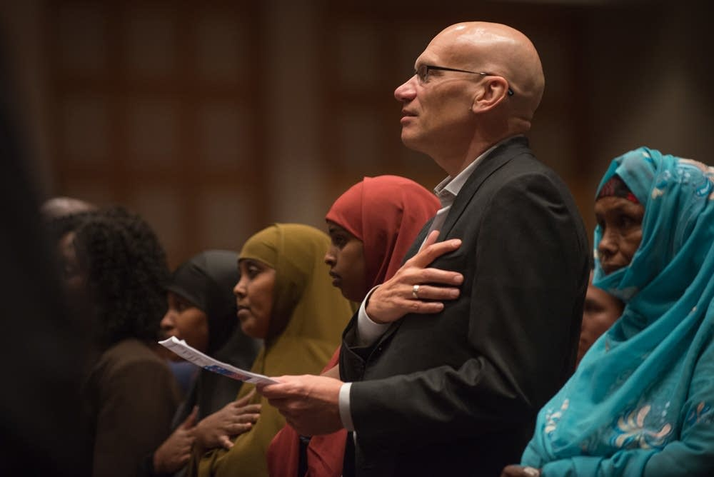 Mark Wheat takes oath of citizenship