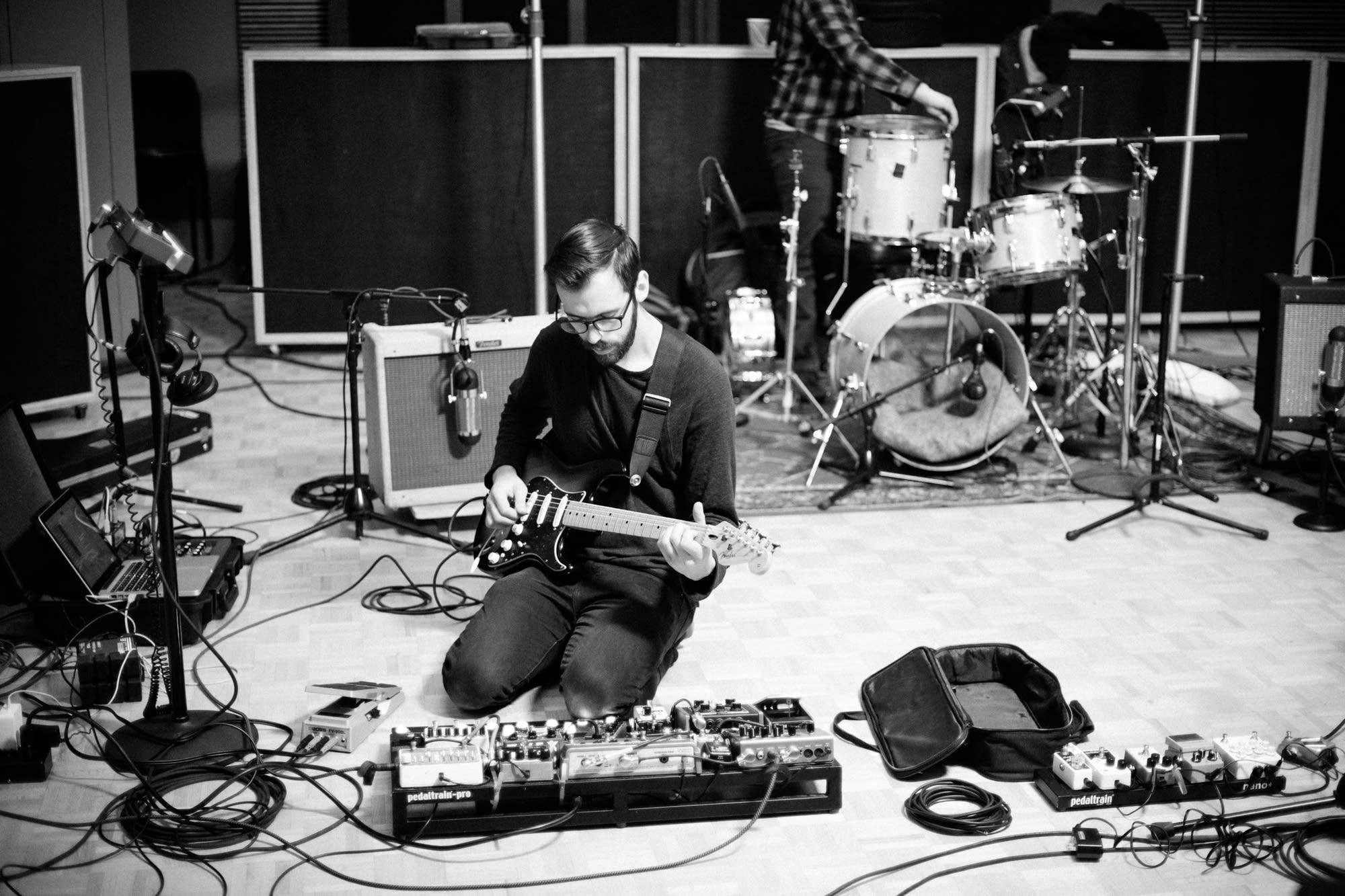 Jacob Blizard in The Current's studio