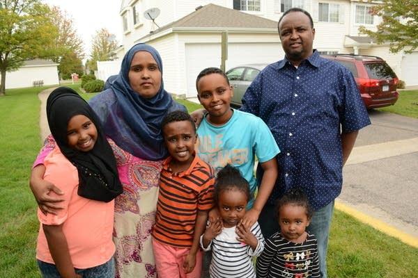 Yusuf Dayur and his family
