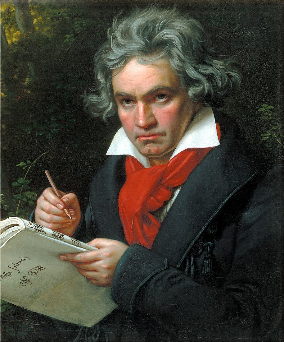 Beethoven working on the Missa Solemnis