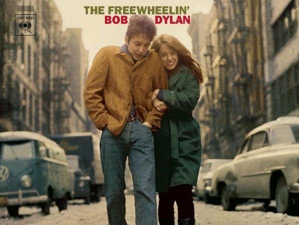 Album cover: 'The Freewheelin' Bob Dylan.'